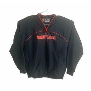 Nike Maryland Terps Jacket Windbreaker LG Black